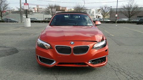 low miles 2016 BMW 2 Series 228i Xdrive Convertible repairable for sale