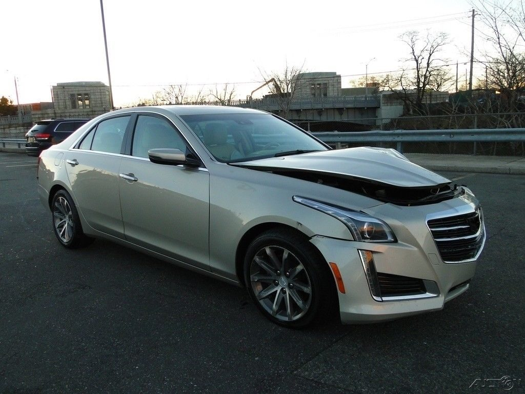 low miles 2016 Cadillac CTS repairable