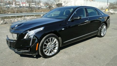 low miles 2017 Cadillac CT6 Luxury Sedan 4×4 repairable for sale