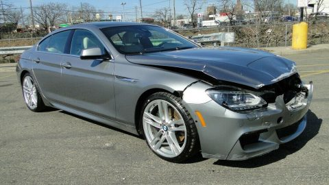 luxury 2013 BMW 6 Series i Xdrive repairable for sale