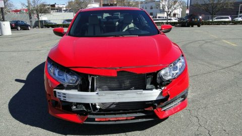 very low miles 2018 Honda Civic LX P repairable for sale