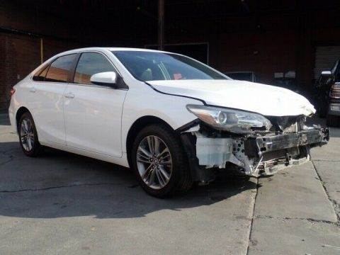 front damage 2015 Toyota Camry SE repairable for sale
