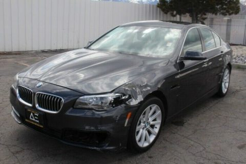 light damage 2014 BMW 5 Series 535i repairable for sale