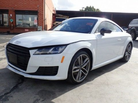 low mileage 2017 Audi TT 2.0T Coupe quattro repairable for sale
