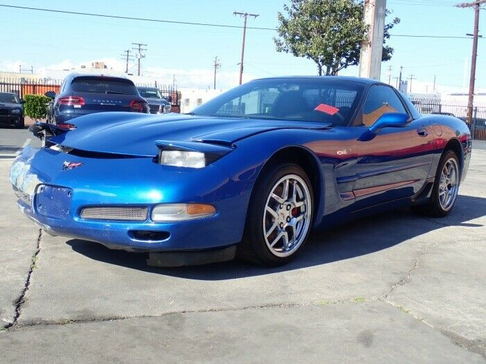low miles 2002 Chevrolet Corvette Z06 repairable