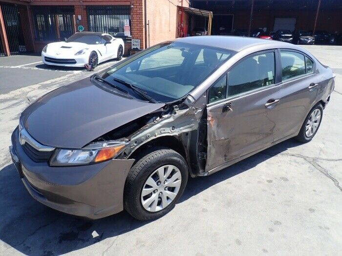 low miles 2012 Honda Civic LX repairable