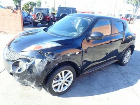 low miles 2013 Nissan Juke SV repairable for sale