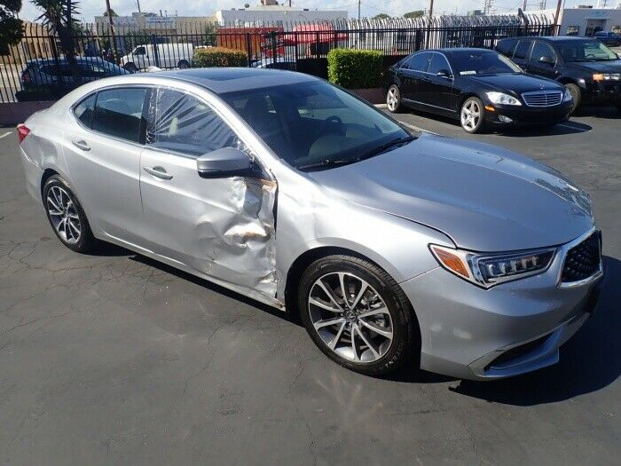 low miles 2018 Acura TLX 3.5L repairable