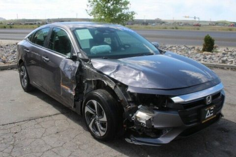 low miles 2019 Honda Insight EX repairable for sale