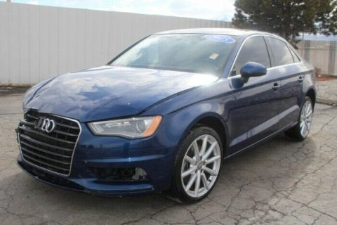 nicely equipped 2015 Audi A3 Quattro 2.0T Premium AWD repairable for sale