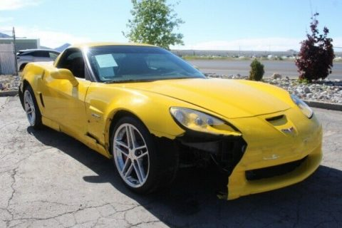 very low miles 2006 Chevrolet Corvette Z06 repairable for sale