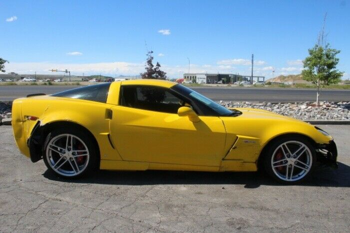 very low miles 2006 Chevrolet Corvette Z06 repairable