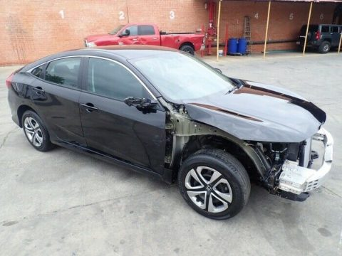 very low miles 2018 Honda Civic LX repairable for sale