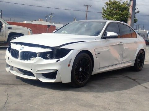 loaded with goodies 2015 BMW M3 3.0 L repairable for sale