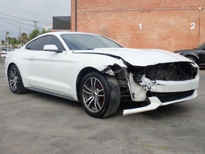 low miles 2016 Ford Mustang Ecoboost Coupe repairable
