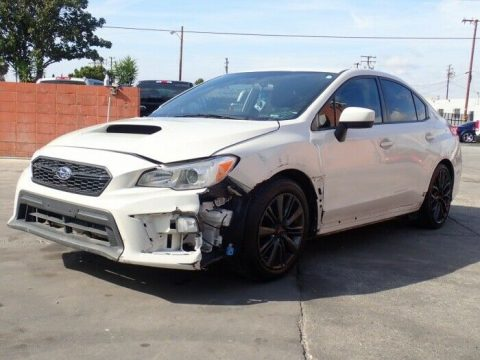 low miles 2018 Subaru WRX WRX AWD repairable for sale