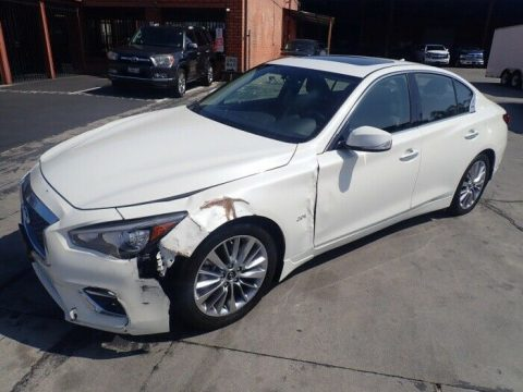 very low miles 2018 Infiniti Q50 2.0t LUXE repairable for sale