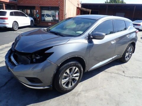 well equipped 2016 Nissan Murano S repairable for sale