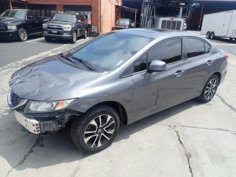 front damage 2013 Honda Civic EX repairable for sale