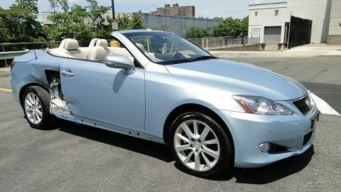 low miles 2010 Lexus IS IS 250c 2.5L V6 repairable for sale