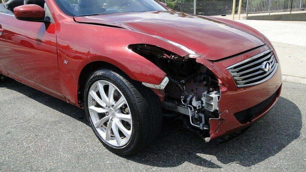 low miles 2014 Infiniti Q60 Q60 3.7L V6 Convertible repairable