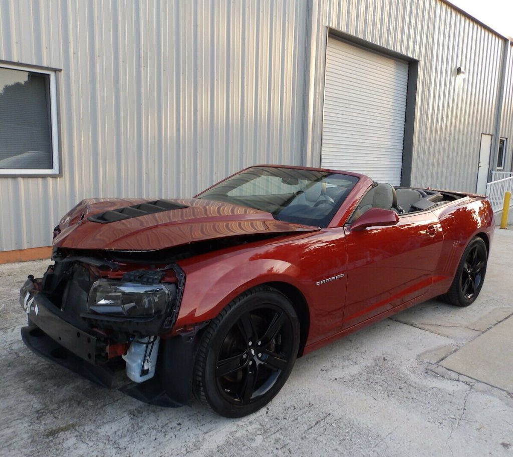 low miles 2015 Chevrolet Camaro 2SS / RS Convertible repairable
