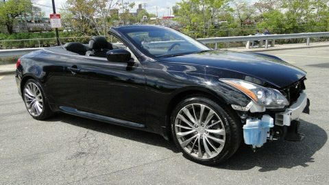 well equipped 2013 Infiniti G37 G37 Sport Convertible 3.7L V6 repairable for sale