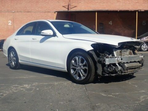 loaded 2015 Mercedes Benz C Class C 300 repairable for sale