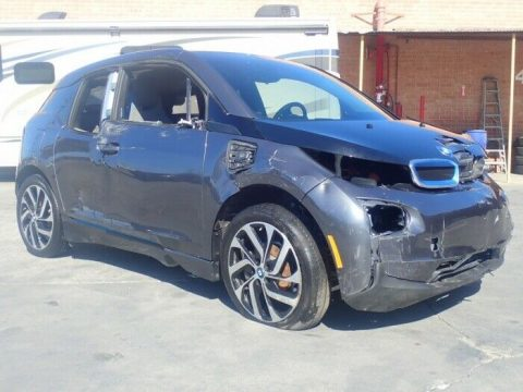 low miles 2017 BMW i3 repairable for sale