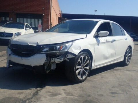 well equipped 2015 Honda Accord Sport repairable for sale