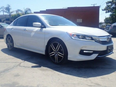 well equipped 2016 Honda Accord Sport repairable for sale
