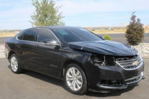 well equipped 2017 Chevrolet Impala LT repairable for sale