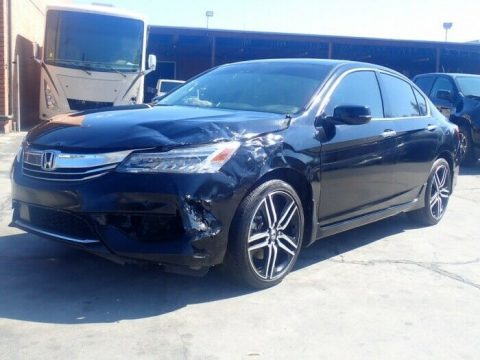well equipped 2017 Honda Accord Touring repairable for sale
