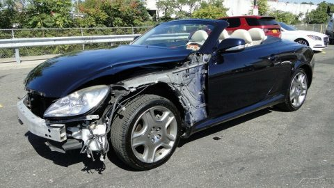 front damage 2009 Lexus SC 4.3L V8 Automatic 6 Speed repairable for sale