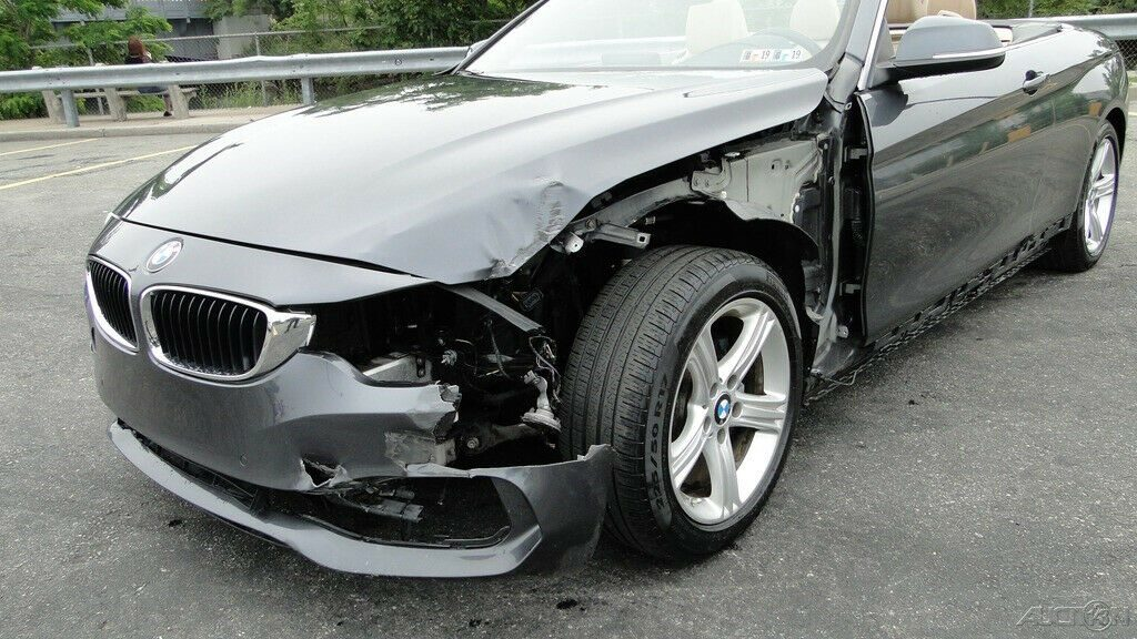 low miles 2014 BMW 4 Series 428i Convertible repairable