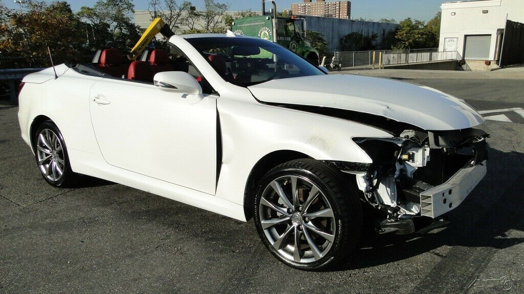 low miles 2014 Lexus IS 2.5 L V6 Convertible repairable