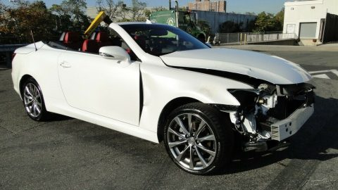 low miles 2014 Lexus IS 2.5 L V6 Convertible repairable for sale