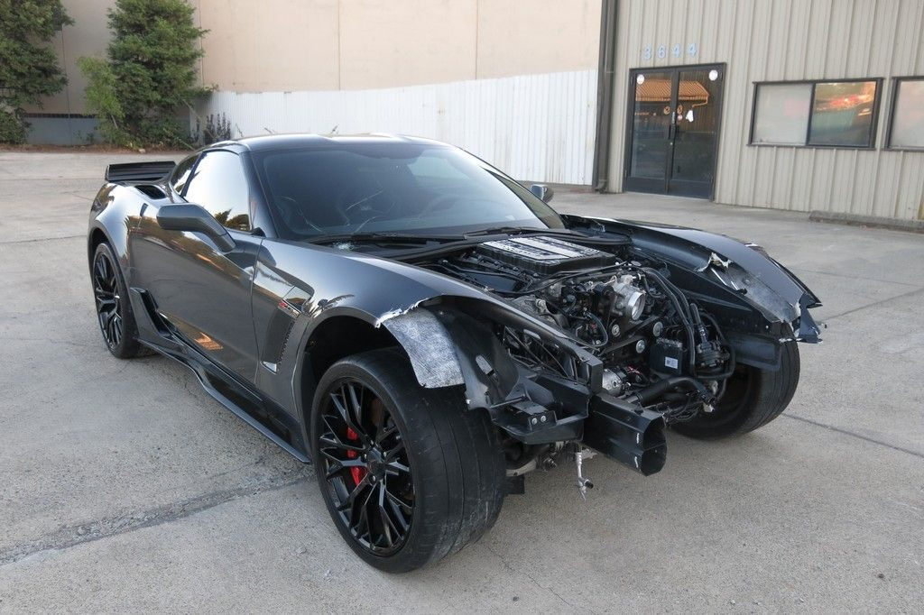 low miles 2017 Chevrolet Corvette Z06 LT4 repairable