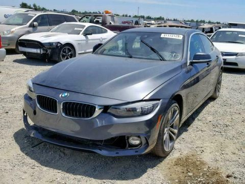 super low mileage 2018 BMW 4 Series repairable for sale