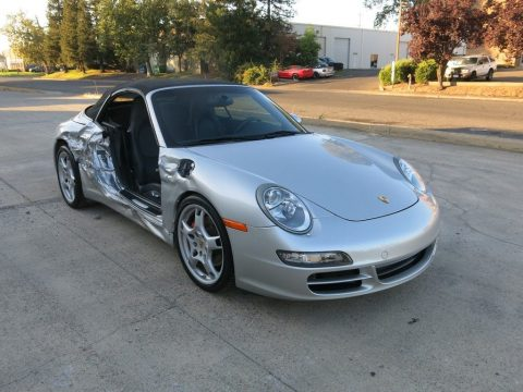 fully loaded 2008 Porsche 911 Carrera S Convertible 6 Speed manual repairable for sale