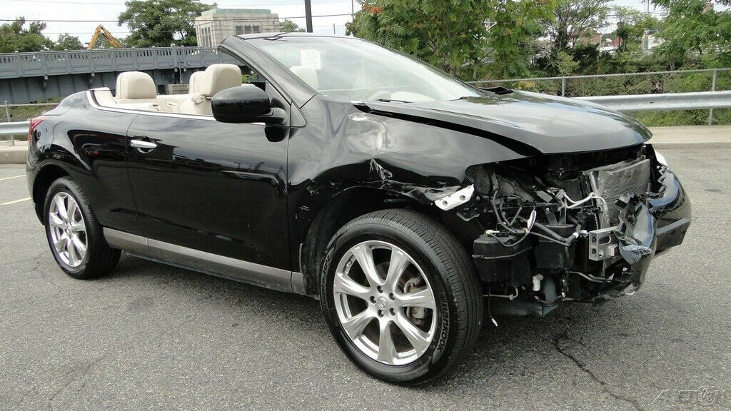low mileage 2014 Nissan Murano Boss AWD Convertible repairable