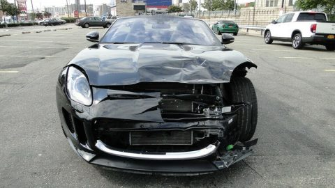low mileage 2017 Jaguar F Type Convertible repairable for sale