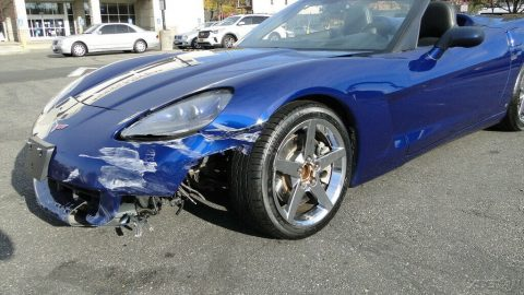 low miles 2007 Chevrolet Corvette Chevrolet Corvette repairable for sale