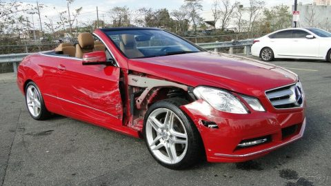 low miles 2013 Mercedes Benz E Class E 350 3.5L V6 repairable for sale