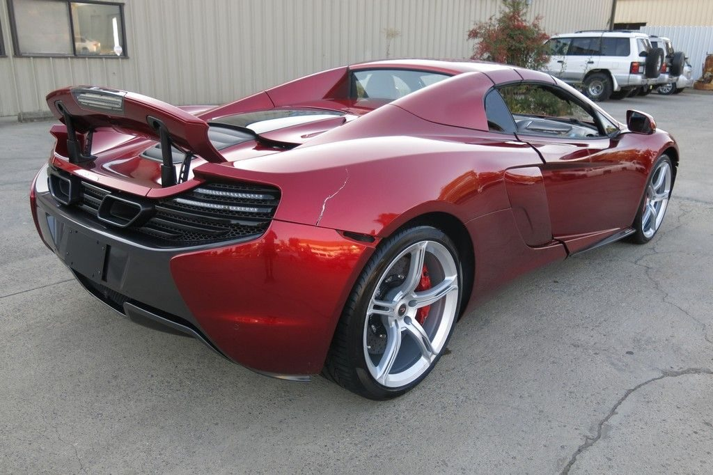 low miles 2015 Mclaren 650S S Spider twin Turbocharged 3.8 Liter V8 repairable