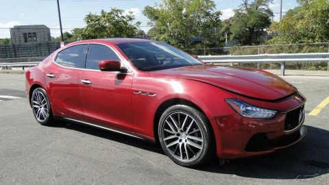 light damage 2016 Maserati Ghibli 3.0L V6 Twin Turbocharger repairable for sale