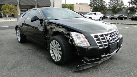 low miles 2013 Cadillac CTS Premium 3.6L V6 AWD repairable for sale
