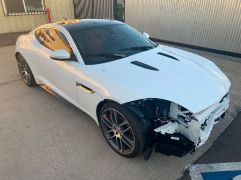 low miles 2015 Jaguar F Type Supercharged R Type repairable for sale