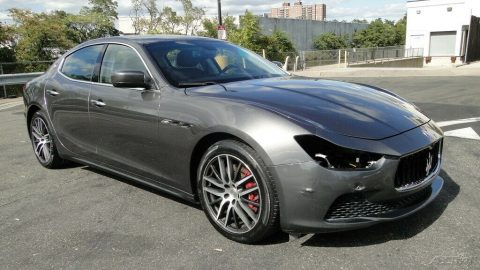 low miles 2016 Maserati Ghibli S Q4 3.0L V6 Twin Turbocharger repairable for sale
