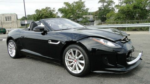 low miles 2017 Jaguar F Type 3.0L V6 Supercharger repairable for sale